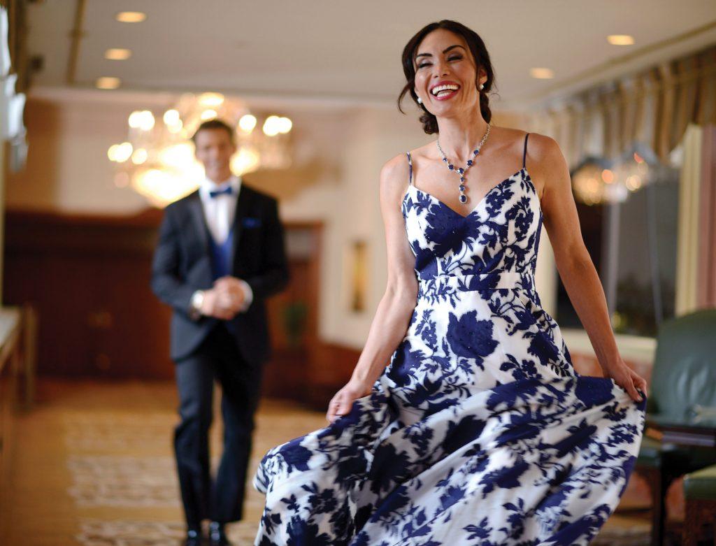 Xscape floral gown