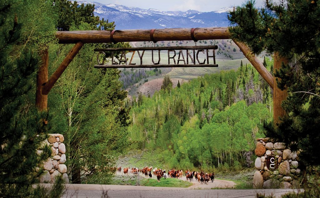 The entrance to C Lazy U Ranch.