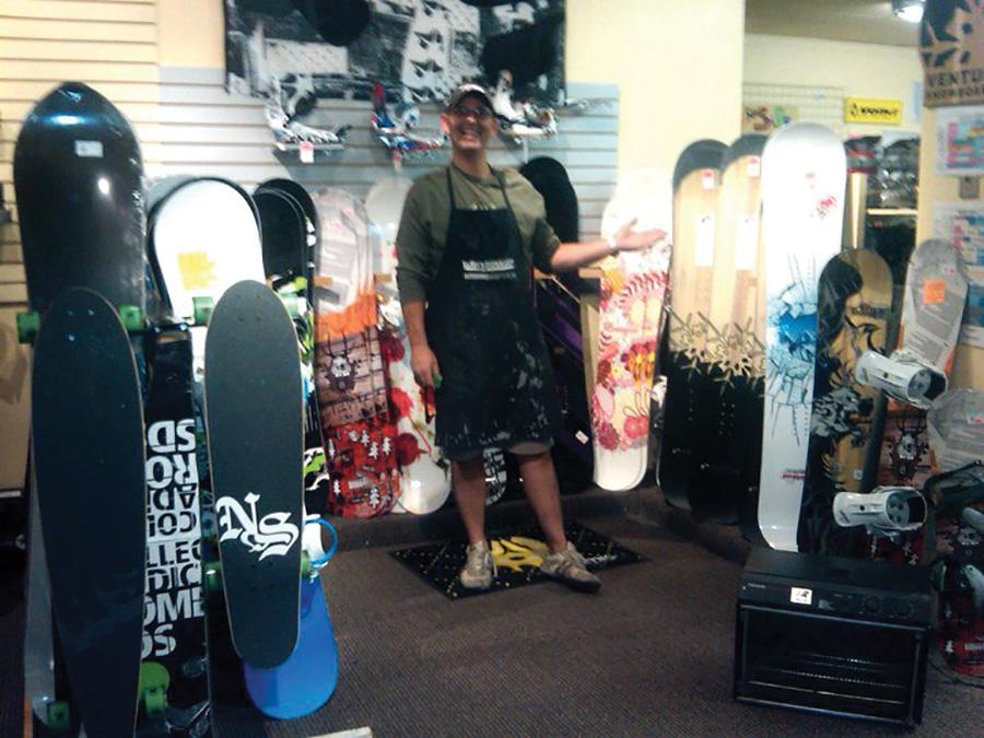 Eskimo Ski and Board Shop snowboards