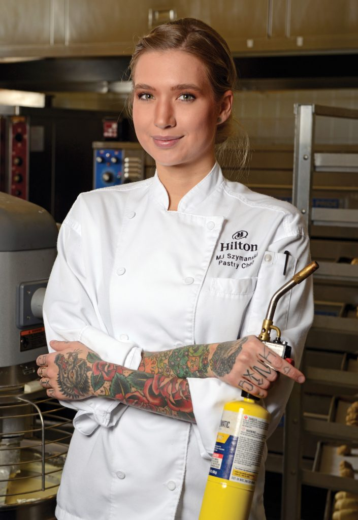 Mj Szymanski, executive pastry chef at Hilton Denver Inverness