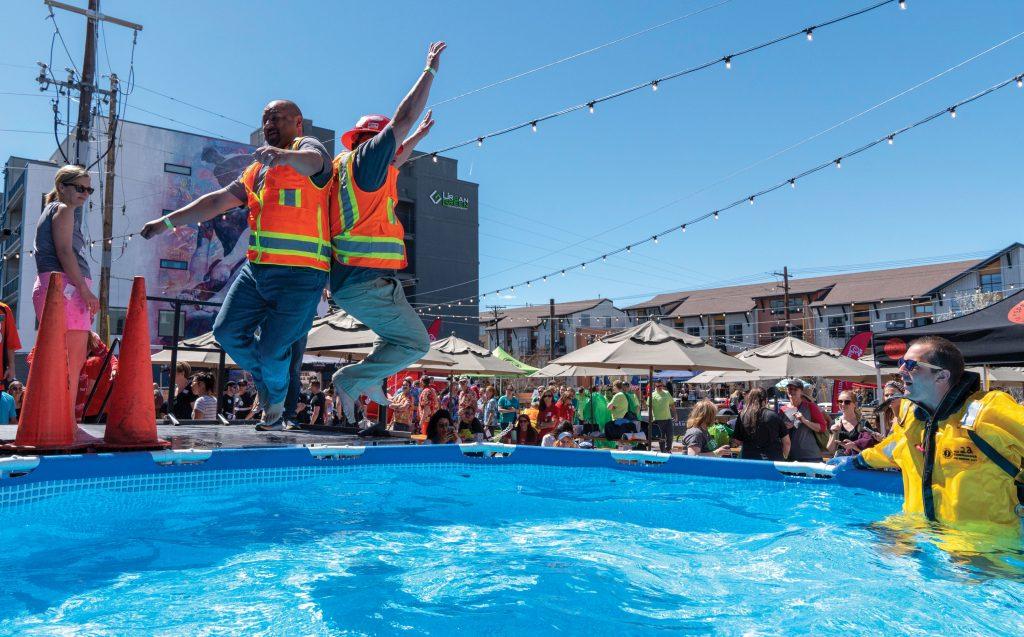 Special Olympics Colorado plunge
