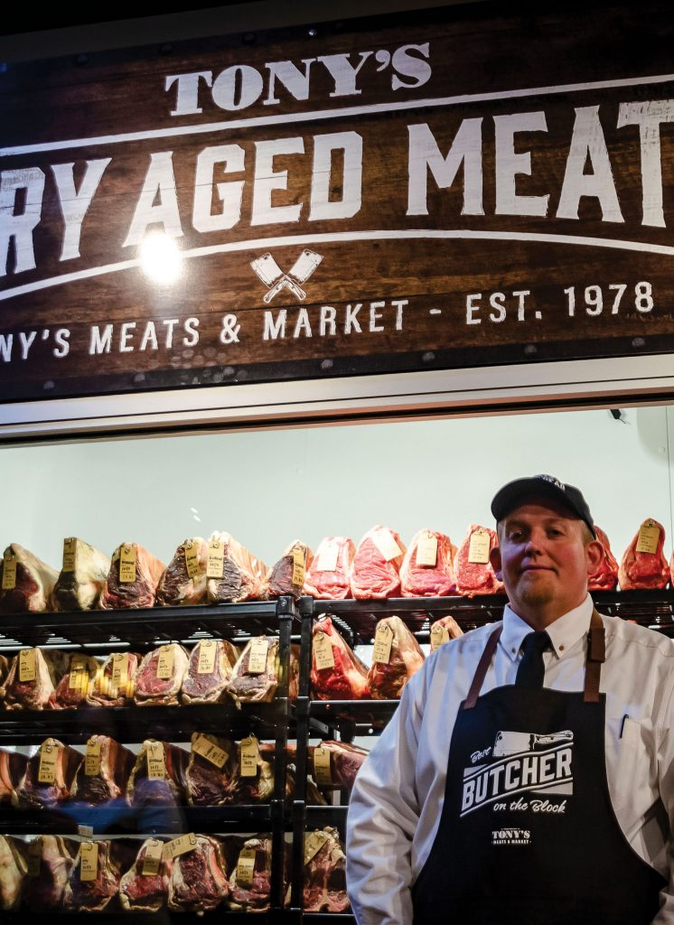 Tony's Meats and Market dry-aging room with creator Stefan Kosmicki