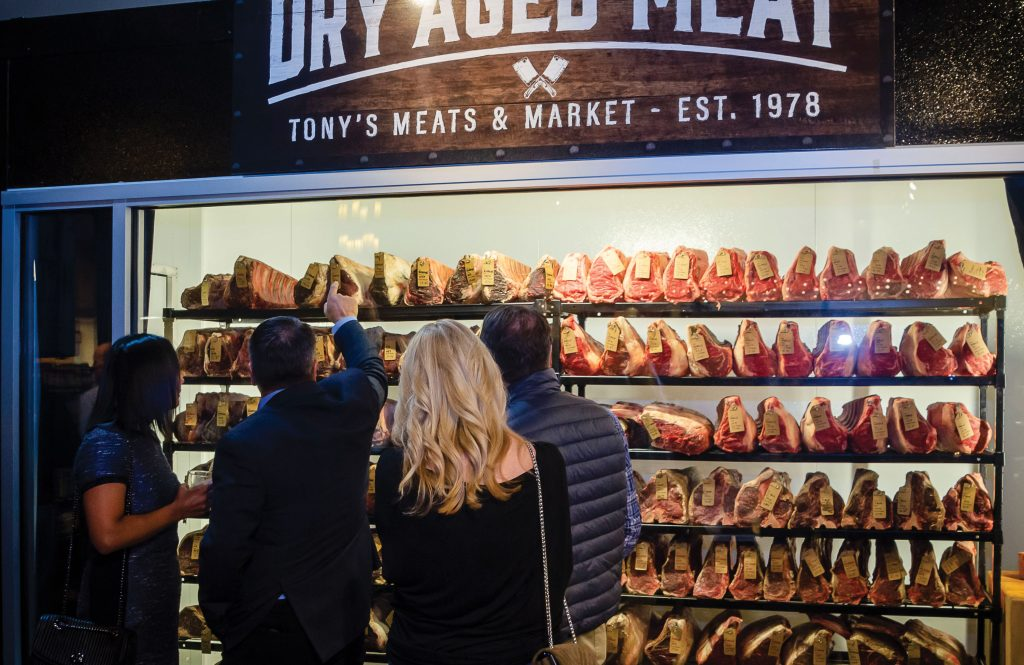 Tony's Meats and Market dry-aging room