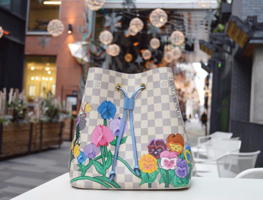 Zavala Bespoke Louis Vuitton bucket bag