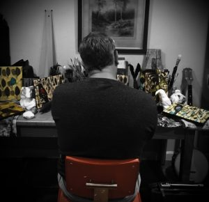 Christian Dore in his studio