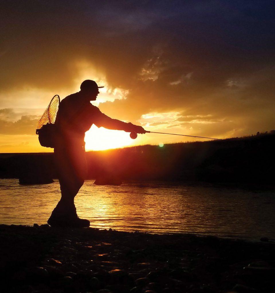 Jonathan Messinger fly-fishing