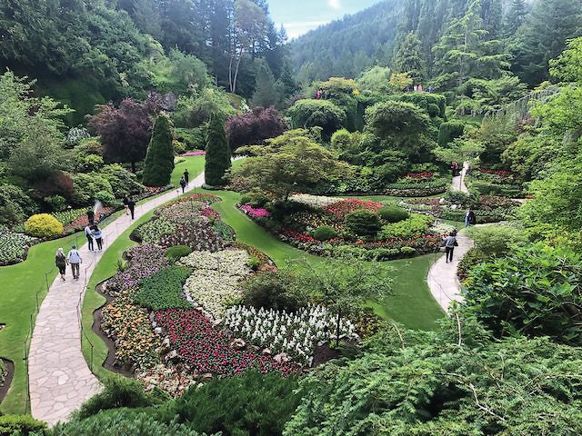 Castle Pines Garden Club in The Butchart Gardens.