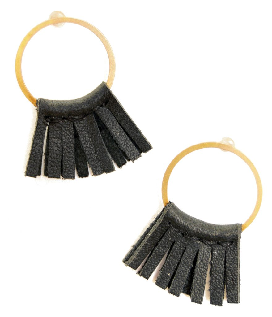 Stitch and Shutter fringe earrings