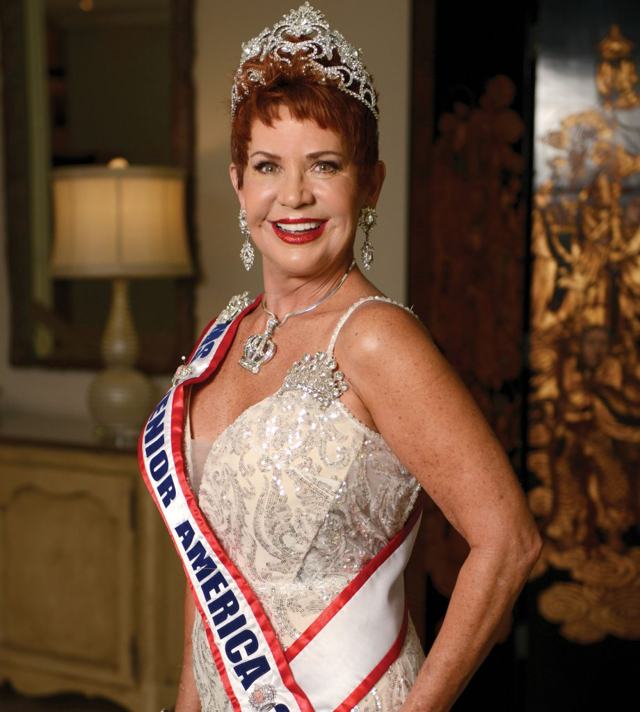 Gayle Novak in her Ms. Senior America crown and sash