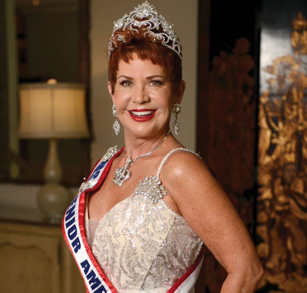 Gayle Novak in her Ms. Senior America crown and sash