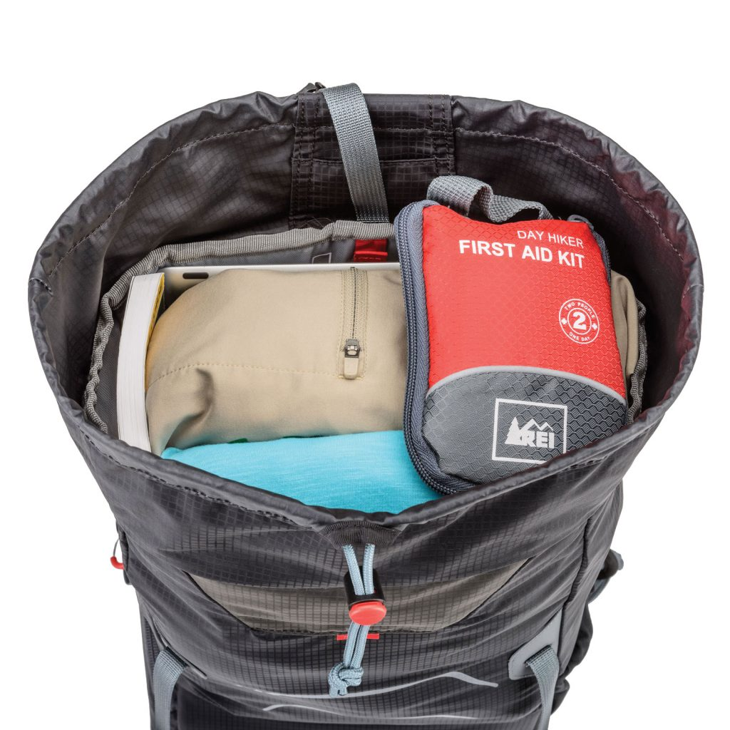 The main pouch features nine liters of storage.