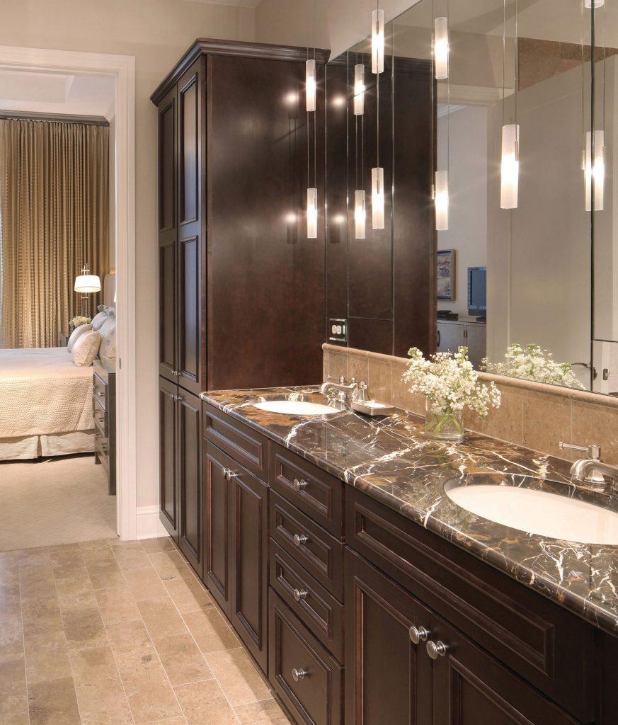 The Landmark penthouse master bathroom