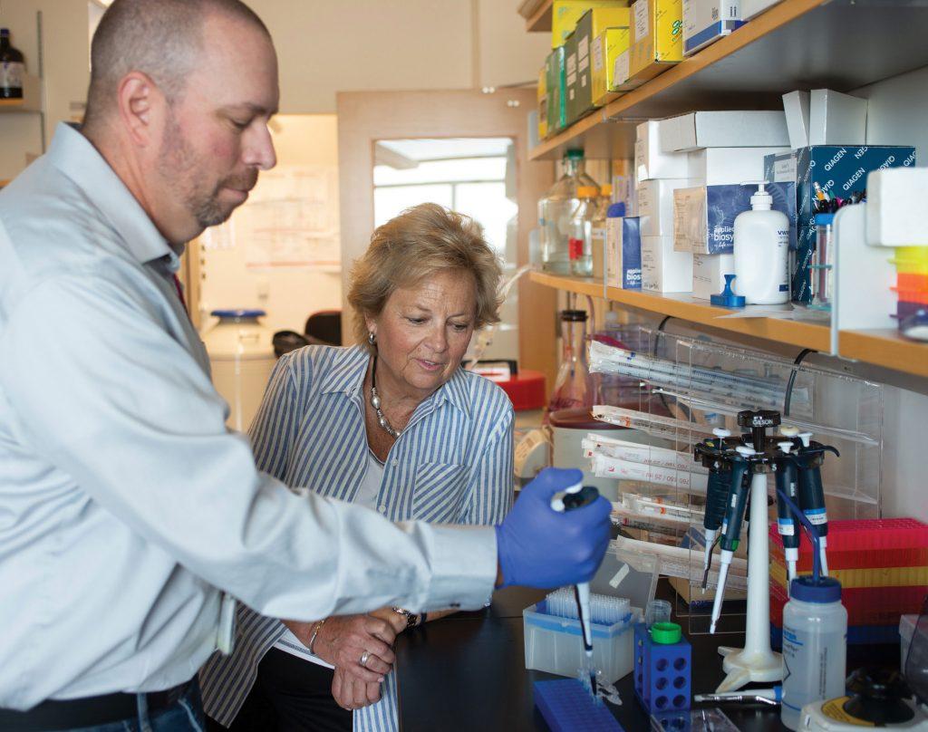 Maureen Shul in the lab