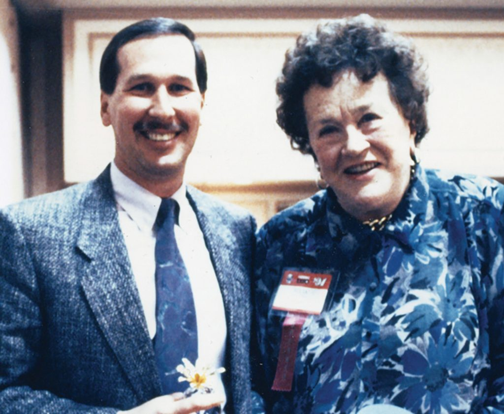Larry DiPasquale and Julia Child