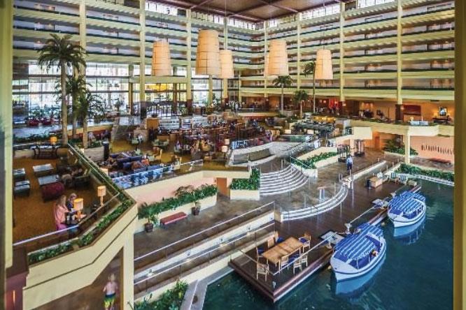 Desert Springs Resort and Spa lobby boat