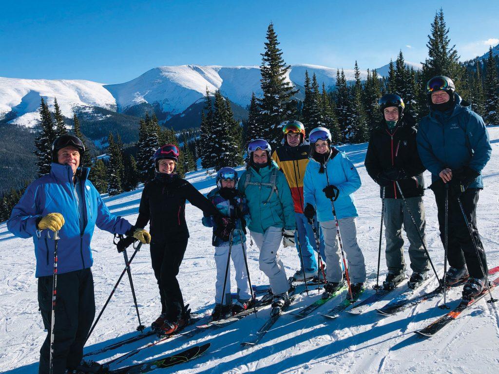 Bergeons skiing