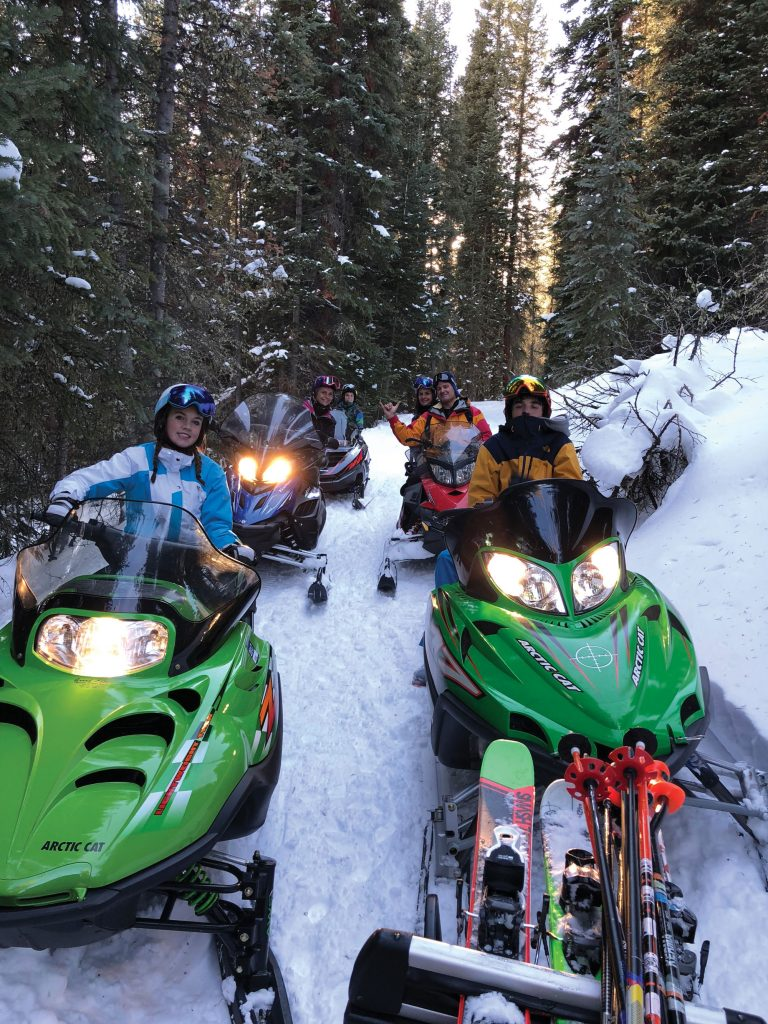 Bergeons snowmobiling