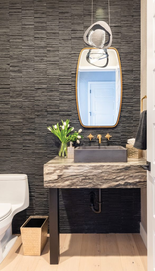 Second nature powder room