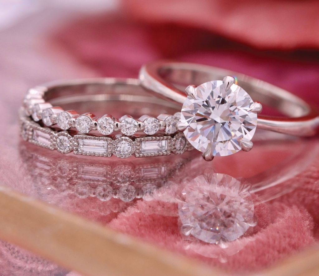 The Diamond Reserve engagement and wedding rings