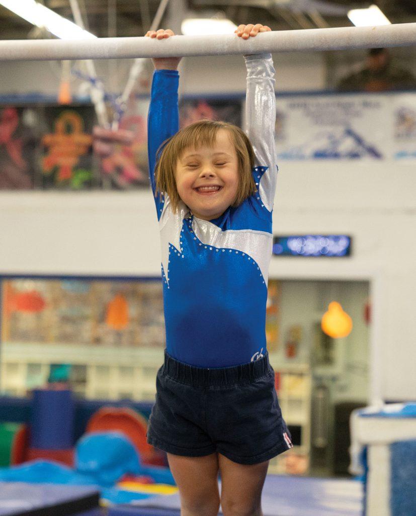Special Olympics gymnast