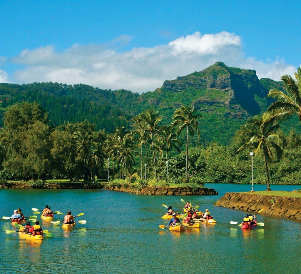 Canoeing in Kaua'i