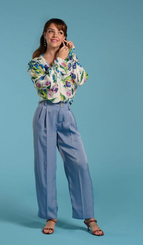 Blue pants look