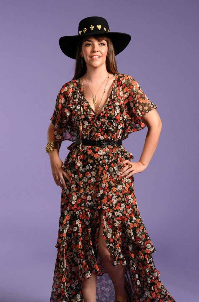 Spring floral dress and hat look