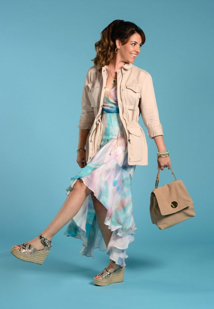 Watercolor dress and jacket